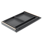 Mayline Aberdeen Series Center Drawer, Thermally Fused Laminate, 25 x 18 x 2, Black