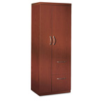 Mayline Aberdeen Personal Storage Tower, 2 Shelves, 24 X 24 X 68-3/4, Cherry