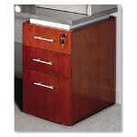 Mayline Eclipse Series Box/Box/File Pedestal For Credenza Shell, Warm Cherry