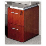 Mayline Eclipse Series File/File Pedestal For Credenza Shell, Warm Cherry