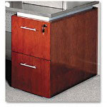 Mayline Eclipse Series File/File Pedestal for Desk Top, Warm Cherry