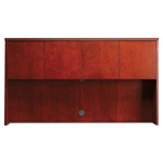 "Mayline Luminary Series Wood Veneer Hutch Doors, 17""x17 1/4"", Cherry"