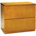 Mayline Luminary Series Lateral File, 34-5/8w x 20d x 29h, Maple