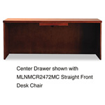 Mayline Mira Series Wood Veneer Center Drawer, 23w x 16d x 2h, Medium Cherry