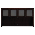 Mayline Mira Series Wood Veneer Framed Glass Hutch Doors, Espresso