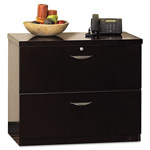 Mayline Mira Series Wood Veneer 2-Drawer Lateral File, 34 3/4w x 24d x 29 1/2h, Espresso