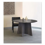 Mayline Medina Laminate Conference Table, 48 dia. x 29 1/2h, Gray Steel