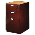Mayline Mira Series Box/Box/File Credenza Pedestal, 15w x 28d x 27 3/4h, Medium Cherry