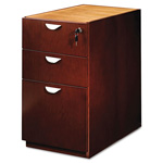 Mayline Mira Series Box/Box/File Desk Pedestal, 15w x 28d x 27 3/4h, Medium Cherry