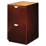 Mayline Mira Series File/File Credenza Pedestal, 15w x 22d x 27 3/4h, Medium Cherry