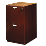Mayline Mira Series File/File Desk Pedestal, 15w x 28d x 27 3/4h, Medium Cherry
