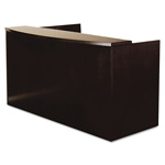 "Mayline Mira Series Wood Veneer Reception Desk Shell, 72""w x 36""d x 43«""h, Espresso"