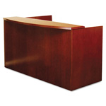 "Mayline Mira Series Wood Veneer Reception Desk Shell, 72""w x 36""d x 43«""h, Medium Cherry"