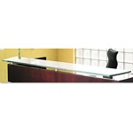 Mayline Napoli Veneer Glass Reception Counter, 86 1/2W x 15 1/4D