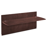 Mayline Napoli Series Reception Desk Top, 86-1/2w x 37-1/4d x 1-1/8h, Mahogany