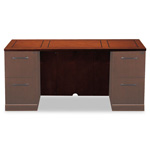 Mayline Sorrento Series Credenza Top/Modesty Panel, 72w x 24d x 29-1/2h, Bourbon Cherry