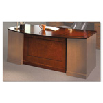Mayline Sorrento Bow Front Desk Top w/Modesty Panel, 72w x 39d, Bourbon Cherry