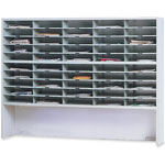 Mayline Mailroom System 2 Tier Sorter with Riser, 50 Pockets, 60w x 13 1/4d x 46 1/4h