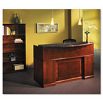 Mayline Sorrento Series Reception Desk Screen With Marble Counter Top, 72w x 39d x 15-1/2h