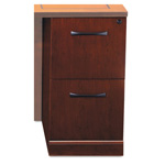 Mayline Sorrento File/File Return Pedestal, 15 1/4w x 20d x 28 1/4h, Cherry