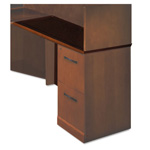 "Mayline Sorrento Series Right Return Top w/Modesty Panel, 48"" Wide, Bourbon Cherry"
