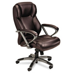 Mayline 300 Series High-Back Swivel/Tilt Chair, Burgundy Leather