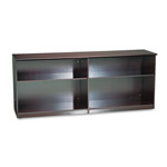 Mayline Corsica/Napoli Cabinet, 2 Adjustable Shelves, 72 X 19 X 29-1/2, Mahogany