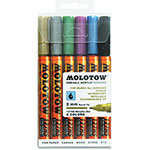Molotow Acrylic Markers, 2mm, 6/ST, Ast