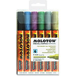 Molotow Acrylic Markers, 4mm, 6/ST, Ast