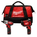 Milwaukee Electric Tools Laser Temp-Gun M12 Cordless Thermometer and M12 Screwdriver Combo Kit Combo