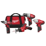 Milwaukee Electric Tools M12 3 Piece Screwdriver, Hackzalland Drill Driver Combo Kit