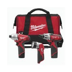 Milwaukee Electric Tools M12V 3 Piece Lithium-Ion Combo Tool Kit