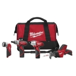 Milwaukee Electric Tools M12 4 Piece Cordless Combo Tool Kit
