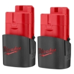 Milwaukee Electric Tools M12 Lithium Battery - 2 Pack