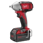 "Milwaukee Electric Tools M18 3/8"" Compact Impact Wrench with Ring"