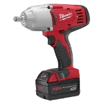 "Milwaukee Electric Tools M18 Cordless 1/2"" Drive High Torque Impact Wrench with Friction RIng Kit"