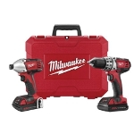 Milwaukee Electric Tools 2 Piece M18 Compact Lithium Ion Drill/Driver and Impact Wrench Combo Kit