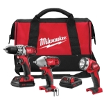 Milwaukee Electric Tools 3 Piece M18 Cordless Automotive Tool Combo Kit