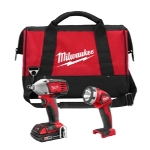 Milwaukee Electric Tools M18 Cordless Impact Wrench and Work Light Combo Kit