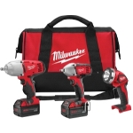 Milwaukee Electric Tools 3 Piece M18 Impact Wrench and Flashlight Kit