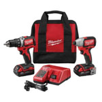 Milwaukee Electric Tools 2 Piece M18 Compact Brushless Drill And Brushless Impact Combo Kit