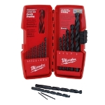 Milwaukee Electric Tools 15 Piece Black Oxide Drill Bit Set