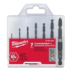 Milwaukee Electric Tools 7 Piece ShockwaveHex Drill Bit