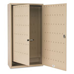 MMF Industries FOB Key Cabinet, 130-Key, Steel, Sand
