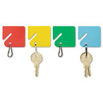 "MMF Industries Slotted Rack Key Tags for Rack Style Cabinets, 1 1/2""h, Assorted Colors, 20/Pack"