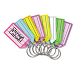 "MMF Industries Key Tags, Replacement, 2-1/4"" x 1/4"" x 13/16"", Multicolored"