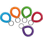 MMF Industries Wrist Coil with Key Ring, Assorted