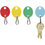 "MMF Industries Snap Hook Key Tags for Hook Style Racks/Cabinets, 1-1/4""h, Assorted, 20/Pack"