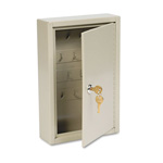 MMF Industries Numbered Two Tag Locking Key Cabinet, 30 Key Capacity, Sand