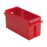 MMF Industries Extra Capacity Rolled Coin Storage Tray, Holds $25 in Pennies, Red
